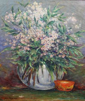 """Cullen Yates """"Floral"""" Painting"""